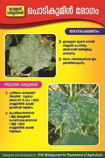 Cucurbit powdery mildew poster copy